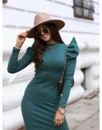 Šaty - kód 1504 - 2 - tmavě zelená