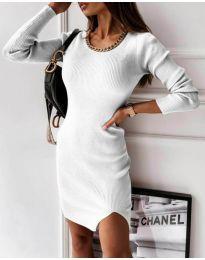 Šaty - kód 4545 - bílá