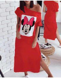 Šaty - kód 6656 - červená