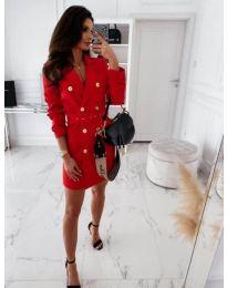 Šaty - kód 5888 - 4 - červená