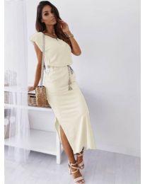Šaty - kód 6622 - bílá
