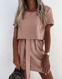 Šaty - kód 6737 - pudrová