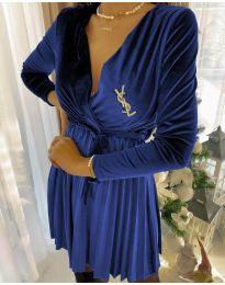 Šaty - kód 8619 - 4 - modrá