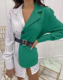 Ефектна дамска риза в зелено - код 4169