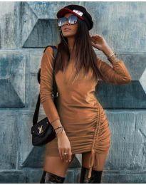Šaty - kód 9545 - hněda