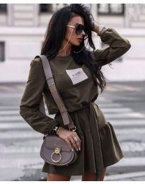 Šaty - kód 0789 - 3 - olivově zelená