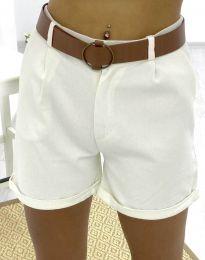 Krátké kalhoty - kód 2236 - 1 - bílá