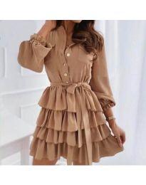 Šaty - kód 7356 - hněda