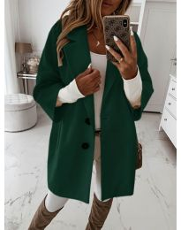 Kabát - kód 413 - tmavě zelená