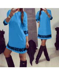 Šaty - kód 345 - modrý