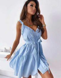 Šaty - kód 0710 - 2 - světle modrá