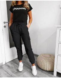 Kalhoty - kód 3089 - 2 - černá