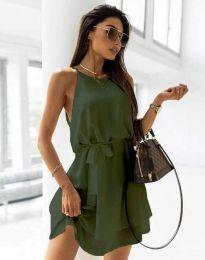 Šaty - kód 9968 - olivově zelená
