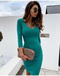 Šaty - kód 4040 - tyrkysový