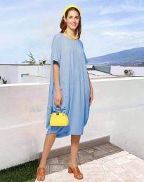 Šaty - kód 5554 - světle modrá