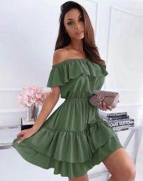 Šaty - kód 6777 - olivově zelená