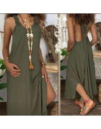 Šaty - kód 9597 - olivová  zelená
