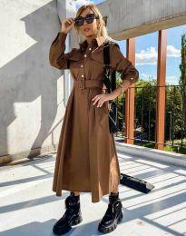 Šaty - kód 1467 - hněda