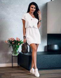 Šaty - kód 3214 - bílá