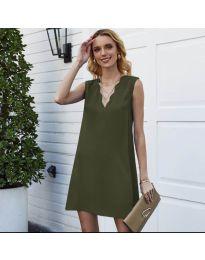Šaty - kód 1429 - olivová  zelená