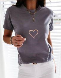 Tričko - kód 3701 - šedá
