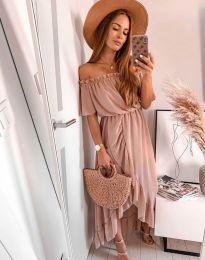 Šaty - kód 0186 - 4 - pudrová