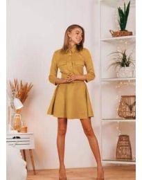 Šaty - kód 6619 - hořčičná