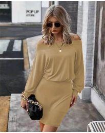 Šaty - kód 4447 - hněda