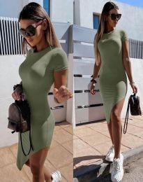 Šaty - kód 8391 - olivově zelená