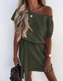Šaty - kód 6737 - olivově zelená