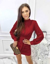 Šaty - kód 0233 - tmavočervená