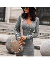 Šaty - kód 4516 - šedá