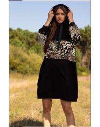Šaty - kód 4546 - 2 - černá