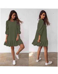 Šaty - kód 784 - olivová  zelená