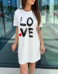 Šaty - kód 11887 - bílá