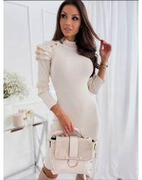 Šaty - kód 2915 - 2 - bílá