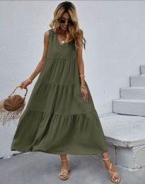 Šaty - kód 2743 - olivově zelená