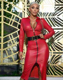 Šaty - kód 0547 - 2 - červená