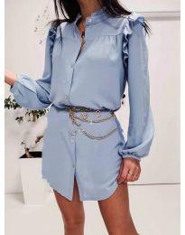 Šaty - kód 3433 světle modrá