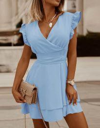 Šaty - kód 5654 - světle modrá