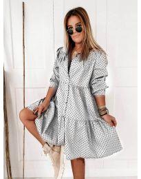 Šaty - kód 5557 - bíla