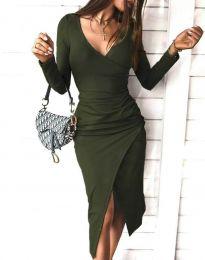 Šaty - kód 4769 - olivová  zelená
