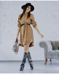 Šaty - kód 9601 - hněda
