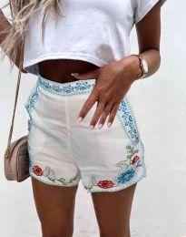 Krátké kalhoty - kód 0955 - 1 - bílá
