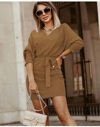 Šaty - kód 9876 - hněda