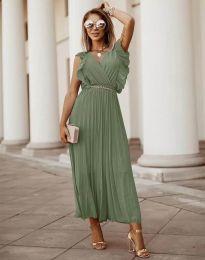 Šaty - kód 3320 - olivová  zelená
