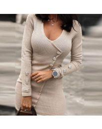 Šaty - kód 4516 - bežová