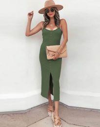 Šaty - kód 8841 - olivová  zelená