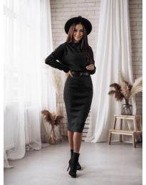 Šaty - kód 7719 - černá