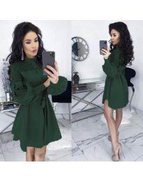 Šaty - kód 6364 - olivová  zelená
